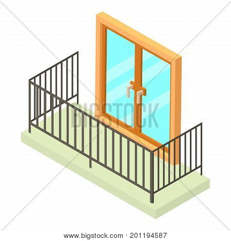Balcony icon. Isometric illustration of balcony vector icon for web