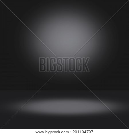 Dark black background with light effects for Studio use