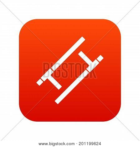 Tonfa icon digital red for any design isolated on white vector illustration