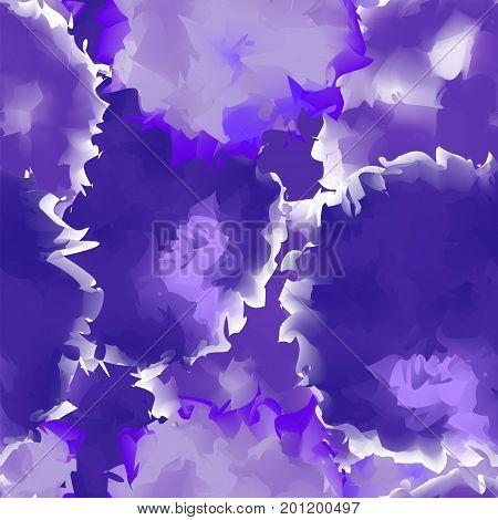Deep Purple Seamless Watercolor Texture Background. Splendid Abstract Deep Purple Seamless Watercolo