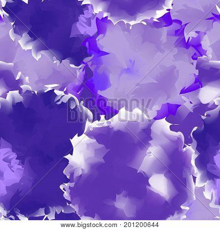 Deep Purple Seamless Watercolor Texture Background. Stunning Abstract Deep Purple Seamless Watercolo