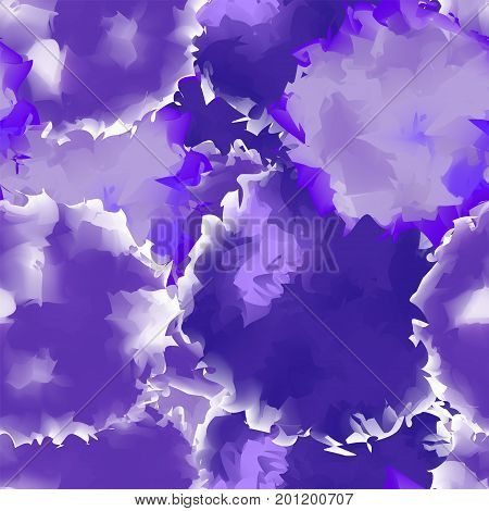 Deep Purple Seamless Watercolor Texture Background. Beauteous Abstract Deep Purple Seamless Watercol