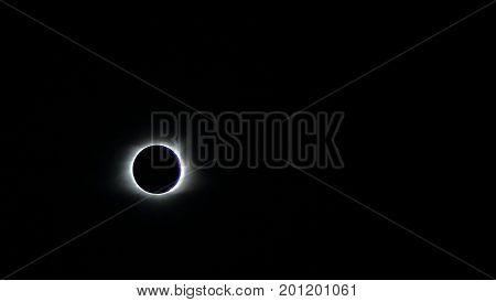 Solar Eclipse during the August 21, 2017 eclipse in the United States. Nashville, Tennessee
