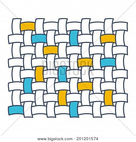 color blue and yellow sections silhouette of macro seamless textile pattern vector illustration