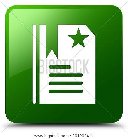 Bookmark Icon Green Square Button