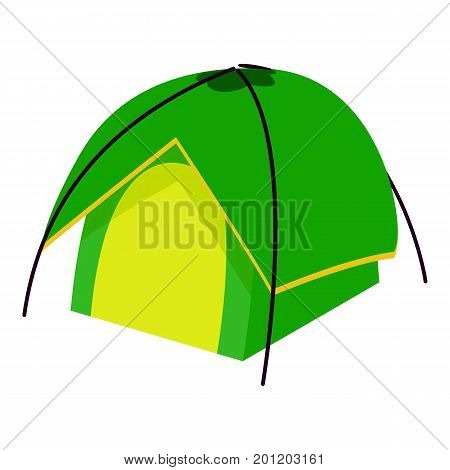 Compact tent icon. Isometric illustration of compact tent vector icon for web