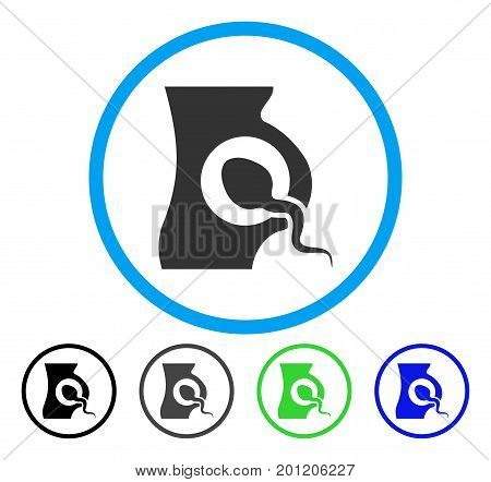 Artificial Insemination rounded icon. Vector illustration style is a flat iconic symbol inside a circle, black, gray, blue, green versions. Designed for web and software interfaces.
