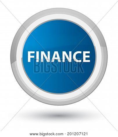 Finance Prime Blue Round Button