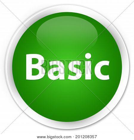 Basic Premium Green Round Button