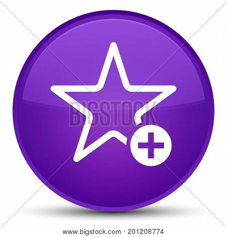 Add To Favorite Icon Special Purple Round Button
