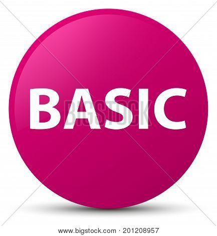 Basic Pink Round Button