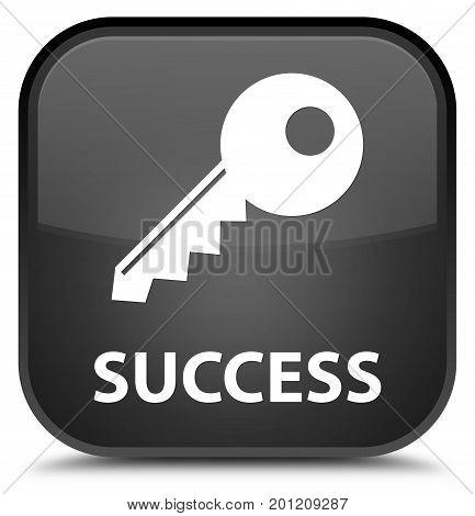Success (key Icon) Special Black Square Button