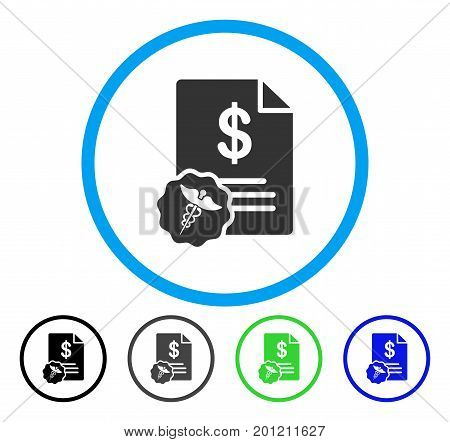 Medical Prices rounded icon. Vector illustration style is a flat iconic symbol inside a circle, black, grey, blue, green versions. Designed for web and software interfaces.