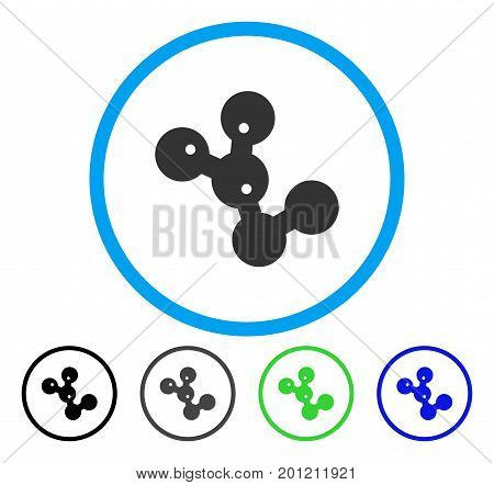 Microbes Colony rounded icon. Vector illustration style is a flat iconic symbol inside a circle, black, grey, blue, green versions. Designed for web and software interfaces.