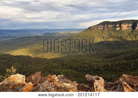 Morning Light Into The Megalong Valley Blue Mountains