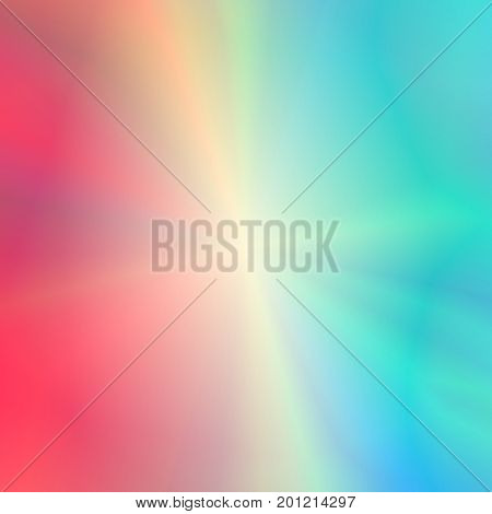 Universal Abstract Red and Blue Background with Glowing Effect. Tender Backdrop with Stylized Rays.