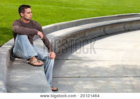 Young Man Outside