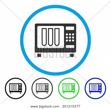 Sterilizer rounded icon. Vector illustration style is a flat iconic symbol inside a circle, black, grey, blue, green versions. Designed for web and software interfaces.