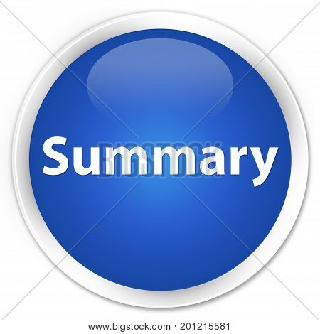 Summary Premium Blue Round Button