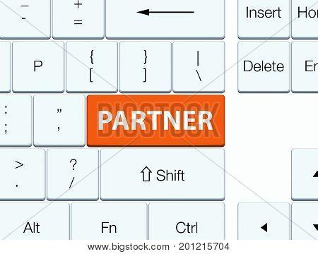 Partner Orange Keyboard Button