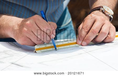 Working On Construction Plans