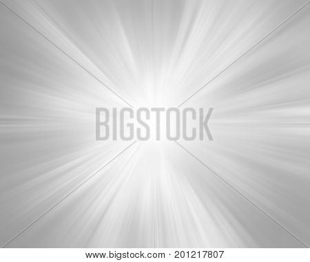 Abstract grey radiant light effect star background.