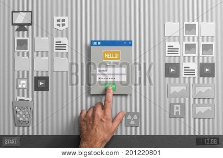 User Login And Application Launching