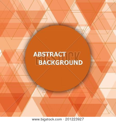 Abstract background with orange hexagon template, stock vector