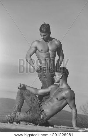 Twin Men Or Bodybuilders