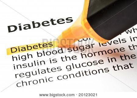 Diabetes Dictionary Definition Orange Marker