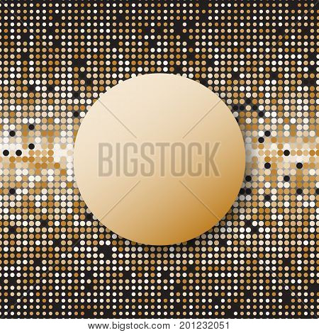 Circle halftone gold dots abstract background stock vector