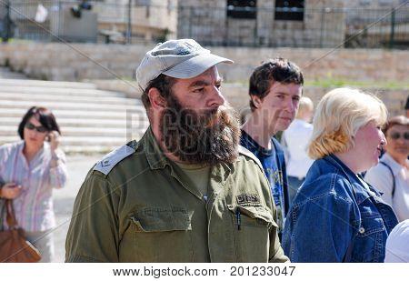 Undefined Israeli Officer On Hebron Street