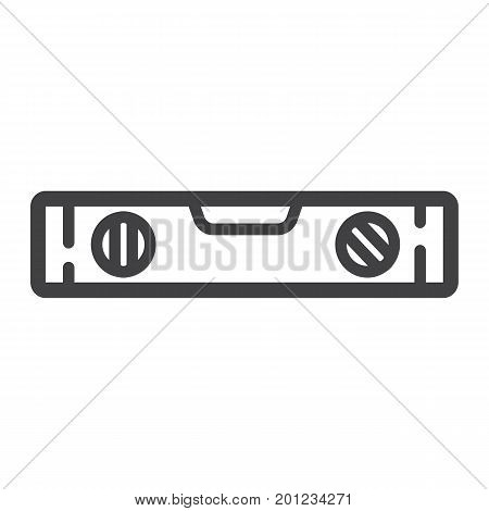 Bubble level tool line icon, build and repair, level ruler sign vector graphics, a linear pattern on a white background, eps 10.