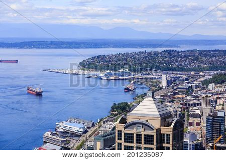 A View of Seattle Washington from Above.