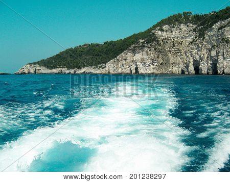 Island in the Ionian Sea, Greece.Cruise Pax-Antipaxy