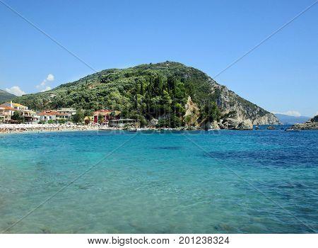 Island in the Ionian Sea, Greece. Cruise Pax-Antipaxy.