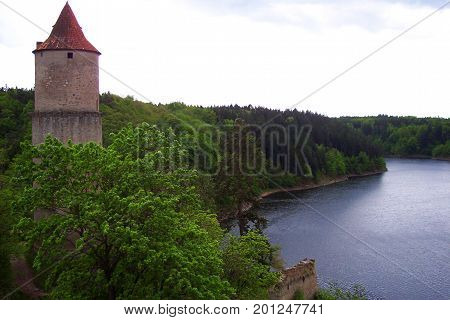View of czech landscape from Zvikov castle