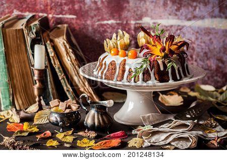 Autumn Harvest Banana Bundt Cake