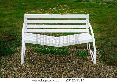 White Bench Reconciliation With Sloping Seats