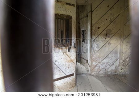Jail Cell In Bodie, California