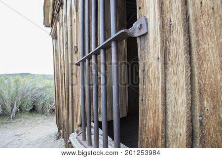 Jail Bars On Window, Bodie, California