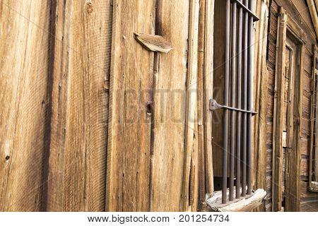 Bars On Window Of Old Jail