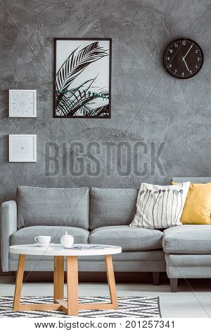 Simple Living Room With Posters