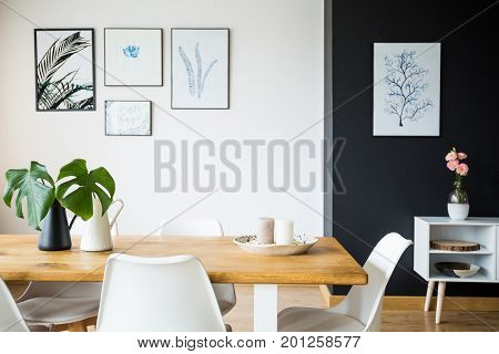 Dining Room With Plant Decoration