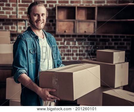Handsome Guy Moving