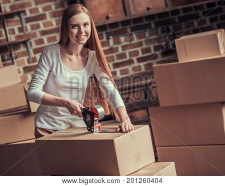 Beautiful Girl Moving