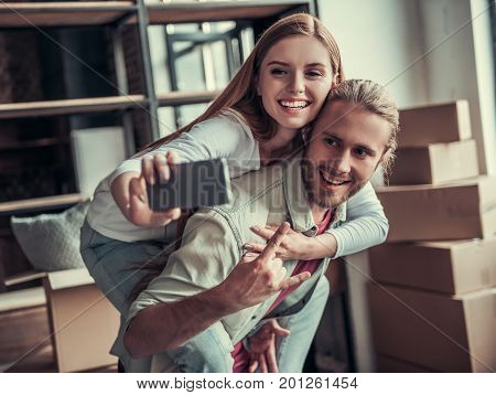 Young Couple Moving