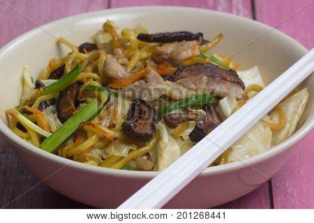 Yakisoba / Stir fry Japanese noodle / cooking Yakisoba (Fried Japanese noodle) concept