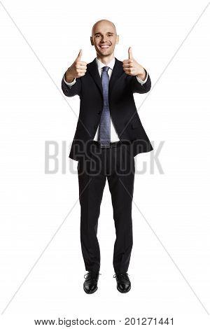 Satisfied Man. Thumb Up.