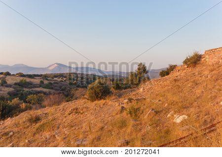 Ruins Of Ancient Amphitheatre In Erytrai